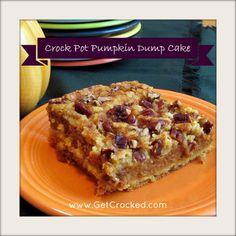 Crock Pot Pumpkin Dump Cake
