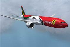 FS2004 FSX BOEING 777-200 v2  Alitalia-Ferrari