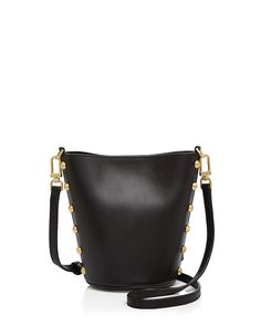 6c801ca33a2 Pierce Stud Structured Leather Bucket Bag by Flynn – Today s Fashion Item  Studded Handbags