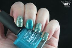 #ablecs15 Week 4: Turquoise. Picture Polish - Lagoon / China Glaze - Passion.