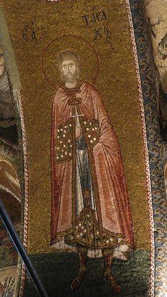 Byzantine Mosaic Figure, Chora Museum, Istanbul, Turkey
