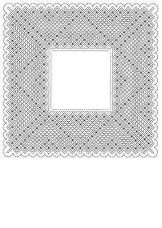 Pañuelo Bobbin Lace Patterns, Hardanger Embroidery, Lacemaking, Lace Heart, Lace Jewelry, Doilies, Blackwork, Lace Detail, Coloring Pages