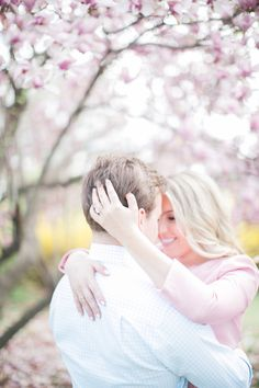 Sweet spring cherry blossoms: http://www.stylemepretty.com/washington-dc-weddings/2015/10/06/elegant-washington-d-c-engagement-session/ | Photography: Hieu Pham - http://www.hieuphamphotography.com/