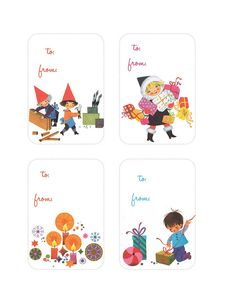 Super cute gift tag printables.
