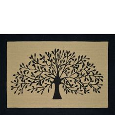 bFeatures/bulliJute Latex Backed/Cotton Boarder/lili60x90cm/lili Tree Black Stylish design/lili Made from completely renewable and recycled products/lili These quality Door Mats are hand made from India where the skill of the craftspeople has been developed over generations/lili They offer a very good service life as a Door Mat and their colorful presentation draws your guest's attention (to wipe their feet) and a greeting that enlightens, humors and greets your…
