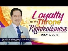 'Loyalty to the Throne of Righteousness' by Pastor Apollo C. Spiritual Enlightenment, Spiritual Growth, Spirituality, Hanging Planter Boxes, Youtube Live, Son Of God, Righteousness, In The Flesh, Apollo