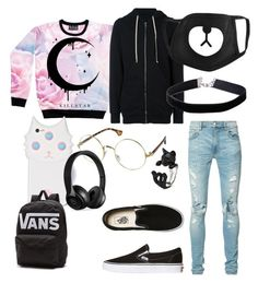 """JuNgKoOk"" by averina30 on Polyvore featuring DRKSHDW, AMIRI, Vans, Miss Selfridge, Valfré and Beats by Dr. Dre"