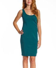 This Emerald Charlotte's Web Organic Dress - Women is perfect! #zulilyfinds
