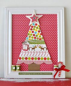 A simple frame and your favorite cardstock is a great way to dress up your home for the holidays!  We love this frame using Bella Blvd. cardstock.  We've got holiday cardstock in supply at www.cardstockshop.com so come check us out!