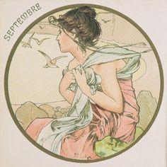 Alphonse Mucha | The Months - September, 1899.