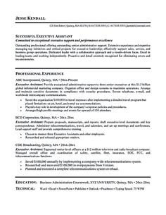 find this pin and more on resume samples executive administrative assistant - Executive Assistant Sample Resume