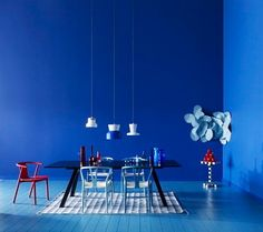 cobalt dining room
