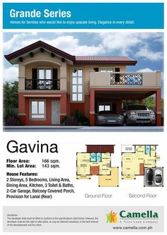 GAVINA A perfect house for your FAMILY Avail now! and get a outright discount Talk to us! Duplex House Plans, Modern House Plans, House Floor Plans, 10 Marla House Plan, Best Exterior House Paint, House Design Pictures, Minimalist House Design, House Elevation, Mediterranean Homes