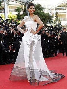 Bollywood star Sonam Kapoor in Jean Paul Gaultier