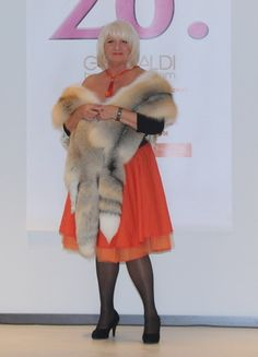 Bunt Fur owner in a fox stole