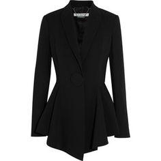 Givenchy Peplum blazer in stretch-crepe
