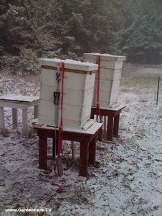 20c20da410e6a Condensation is a common winter killer for your bees. This beekeeper has  listed simple solutions. Tilt your hives!