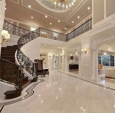 33 trendy house goals mansions bedrooms interior design - New Ideas Dream House Interior, Luxury Homes Dream Houses, Dream Home Design, Modern House Design, Luxury Interior, Home Interior Design, Dream Homes, Exterior Design, Modern Mansion Interior