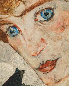Egon Schiele - Portrait of Wally Neuzil -1912 - detail