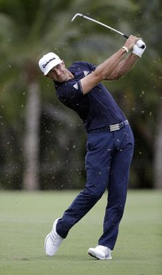 Dustin Johnson shoots a 69 to clinch the Cadillac . Golf Attire, Golf Outfit, Famous Golfers, Mens Golf Fashion, Dustin Johnson, Volleyball Tips, Used Golf Clubs, Golf Art, Golf Club Sets
