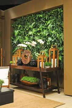 decoracao-de-aparador-rustico-plantas