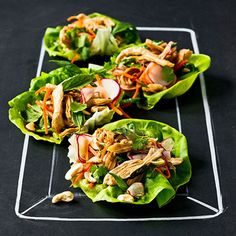 When you don't want a carb-heavy wrap, opt for lettuce instead. Love these Asian Chicken Lettuce Wraps! #recipe