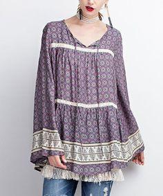 b98e75a93d Look what I found on  zulily! Mauve Ruffle-Sleeve Sweater Dress  zulilyfinds