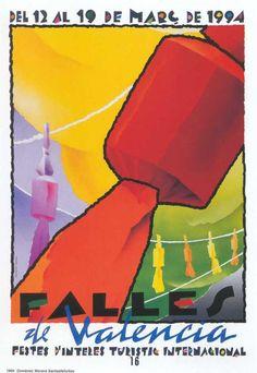 Cartel Fallas de Valencia 1994. Diseño: Domènec Morera Santasfelicitas.