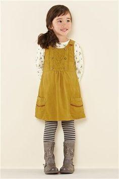 Ochre Cord Dress (3mths-6yrs) 866624