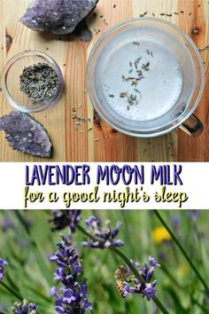 Lavender Moon Milk relaxing nighttime beverage with lavender Lavender Moon Milk. Get a good night's sleep with this recipe that includes steamed milk infused with lavender buds and earl grey tea Lavender Drink, Edible Lavender, Lavender Recipes, Lavender Buds, Culinary Lavender, Yummy Drinks, Healthy Drinks, Milk Recipes, Cooking Recipes