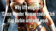 Funny Workout Quotes QUOTATION – Image : Quotes Of the day – Description Wonder Woman weights Sharing is Caring – Don't forget to share this quote ! Sport Motivation, Fitness Motivation Quotes, Weight Loss Motivation, Fitness Tips, Health Fitness, Fitness Humor, Funny Fitness, Workout Motivation, Funny Motivation
