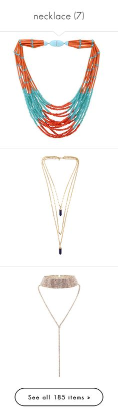 """necklace (7)"" by geniusmermaid ❤ liked on Polyvore featuring jewelry, necklaces, vintage beaded jewelry, beaded jewelry, blue bead necklace, bead jewellery, vintage blue necklace, accessories, colares and collares"