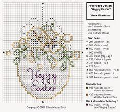 Hobby lavori femminili - ricamo - uncinetto - maglia: Schemi Pasqua Punto Croce