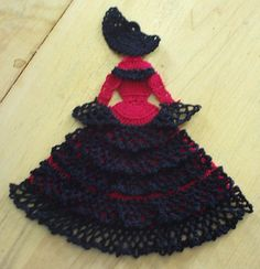 Ravelry: Spanish Senorita Crinoline Girl Doily (Item #0535) pattern by Cylinda Mathews