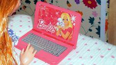 Como fazer um notebook laptop computador para bonecas Barbie e outras - ...