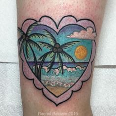 Second one on Chazz today! Thanks again for getting tattooed! #paradise #palmtrees #palmtreestattoo