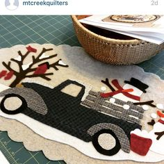 Repost! @mtcreekquilters Nice job, as always! Happy Stitching! Vintage Trucks…