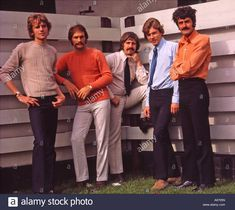 Download this stock image: MOODY BLUES- UK group in 1976 - A6705N from Alamy's library of millions of high resolution stock photos, illustrations and vectors.