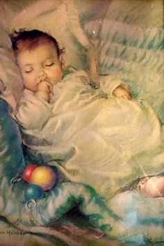 """Sleeping Baby"" by Frances Tipton Hunter"