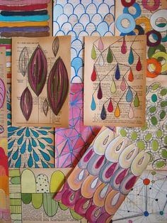 painted book pages art journaling