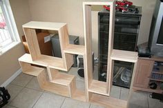 Do It Yourself Shelves Ideas | We've told you about Tetris shelves before ... but to get the ...