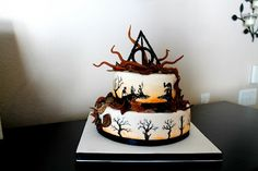 My Culinary Creations: Harry Potter Cake: Tale of the Three Brothers pics 1-5