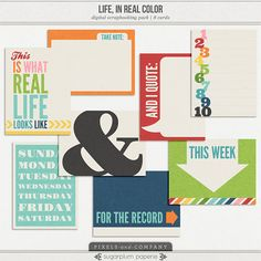 Life, in Real Color : Note Cards