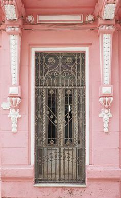 Pink Door - Exterior Paint - Havana Cuba - Bold Color - Travel Destination