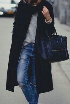 jersey lana metido por dentro de pantalon