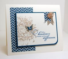 For Your Kindness by mamamostamps - Cards and Paper Crafts at Splitcoaststampers Butterfly Cards, Flower Cards, Flower Stamp, Get Well Cards, Cards For Friends, Card Sketches, Sympathy Cards, Up Girl, Cool Cards