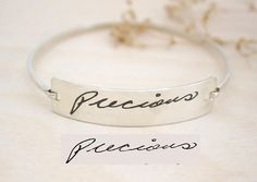 SALE Personalized Engraved Signature Bangle by MichPersonalized