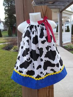 farm barnyard dress Jessie Cowgirl outfit baby girl Toy Story 1st Birthday Party fair carnival available in 3 6 9 12 18 2t 4t 5 6 toddler