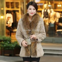 Find More Information about 2014 winter new female rabbit fur full pelt coat medium long plus size fashion slim style big raccoon fur collar women's jacket,High Quality collar fur jacket,China jacket work Suppliers, Cheap collar rubber from Lichuan galaxy international trading company on Aliexpress.com