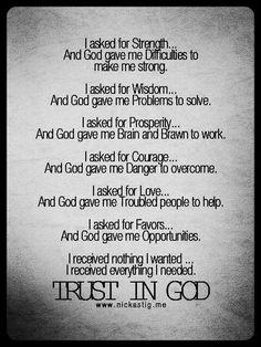Trust in God. Always.
